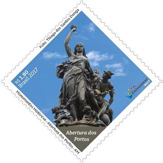 巴西8月11日发行历史古迹邮票